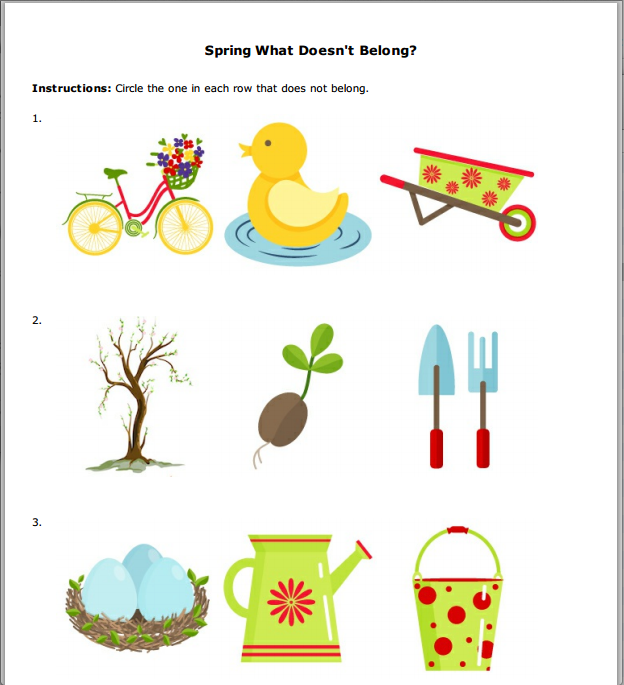St. Patrick's Day, Spring, and Easter Worksheets