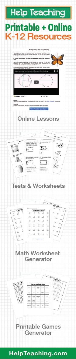Free math worksheet generator for teachers