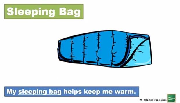 English Language Arts Lesson: Camping Words