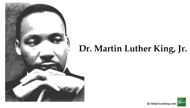 English Language Arts Lesson: Read-Aloud: Martin Luther King, Jr.