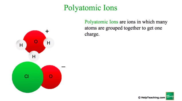 Science Lesson: Polyatomic Ions