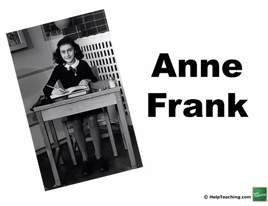 Social Studies Lesson: Anne Frank