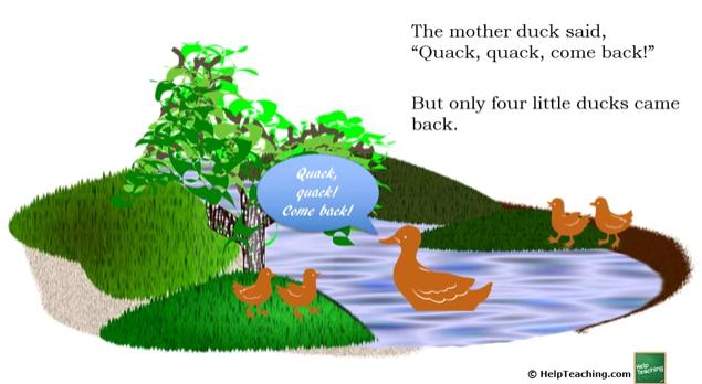 English Language Arts Lesson: Read-Aloud: Five Little Ducks