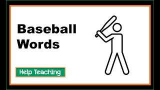 English Language Arts Lesson: Baseball Words