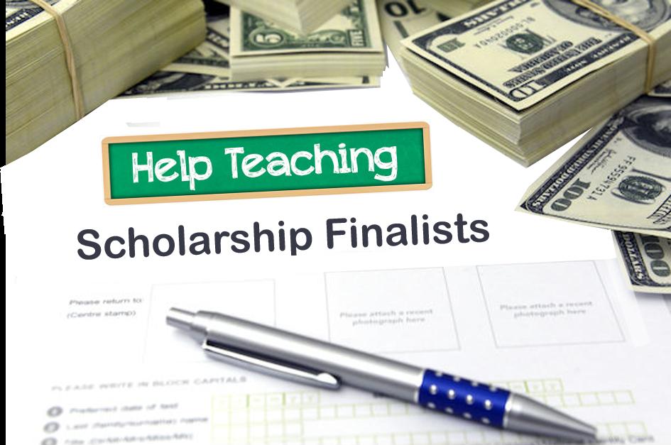 Help Teaching Scholarship Finalists
