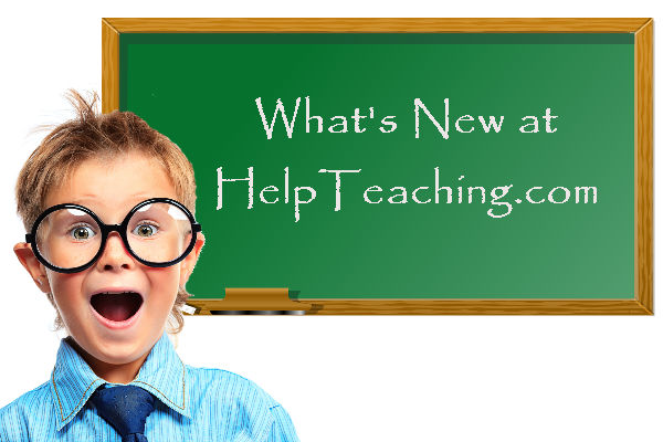 What's New at HelpTeaching.com for Fall 2016